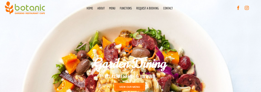 Launch of the new Botanical Gardens Restaurant website